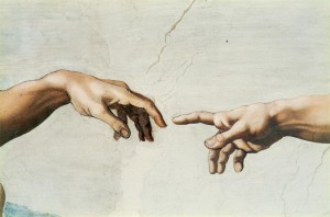 Michelangelo_Creation_finger_detail-300x198